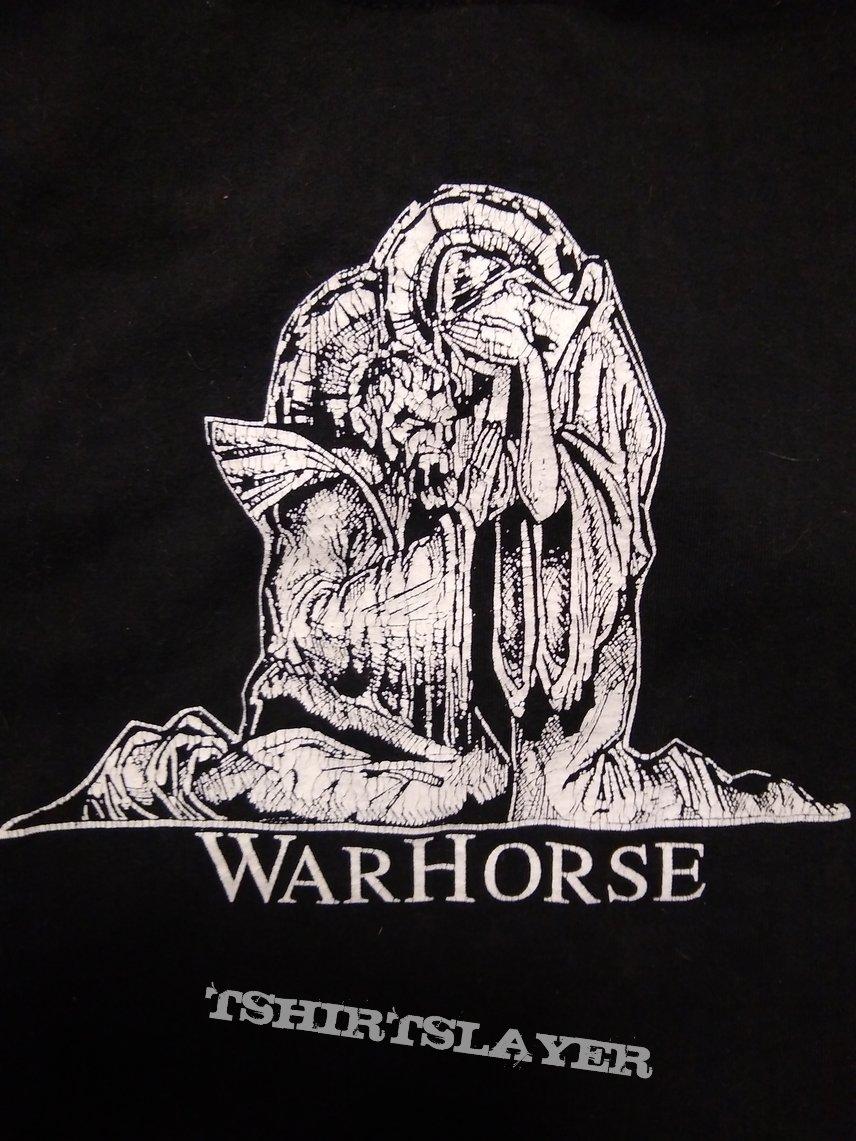"WARHORSE ""evil saints artwork"" 1999 one sided shirt size L RARE (Worcester, MA DOOM)"
