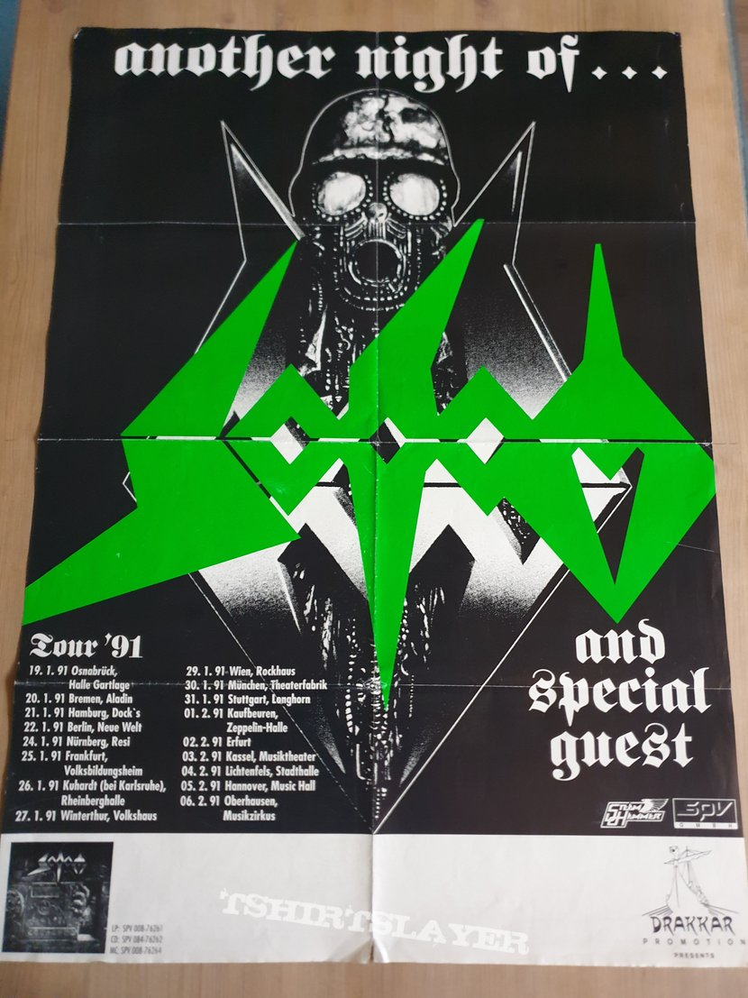 another night of Sodom Tourposter 91