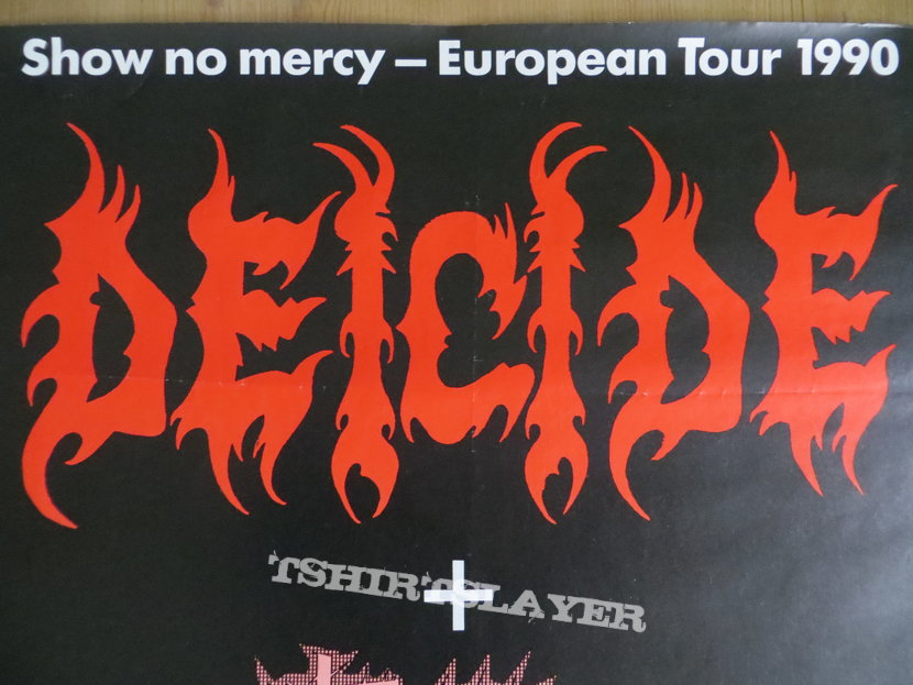 Deicide - Show no Mercy European Tour 1990 Poster