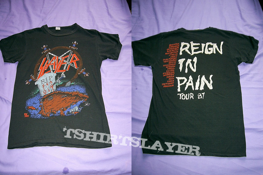 Slayer - Reign In Pain tour shirt