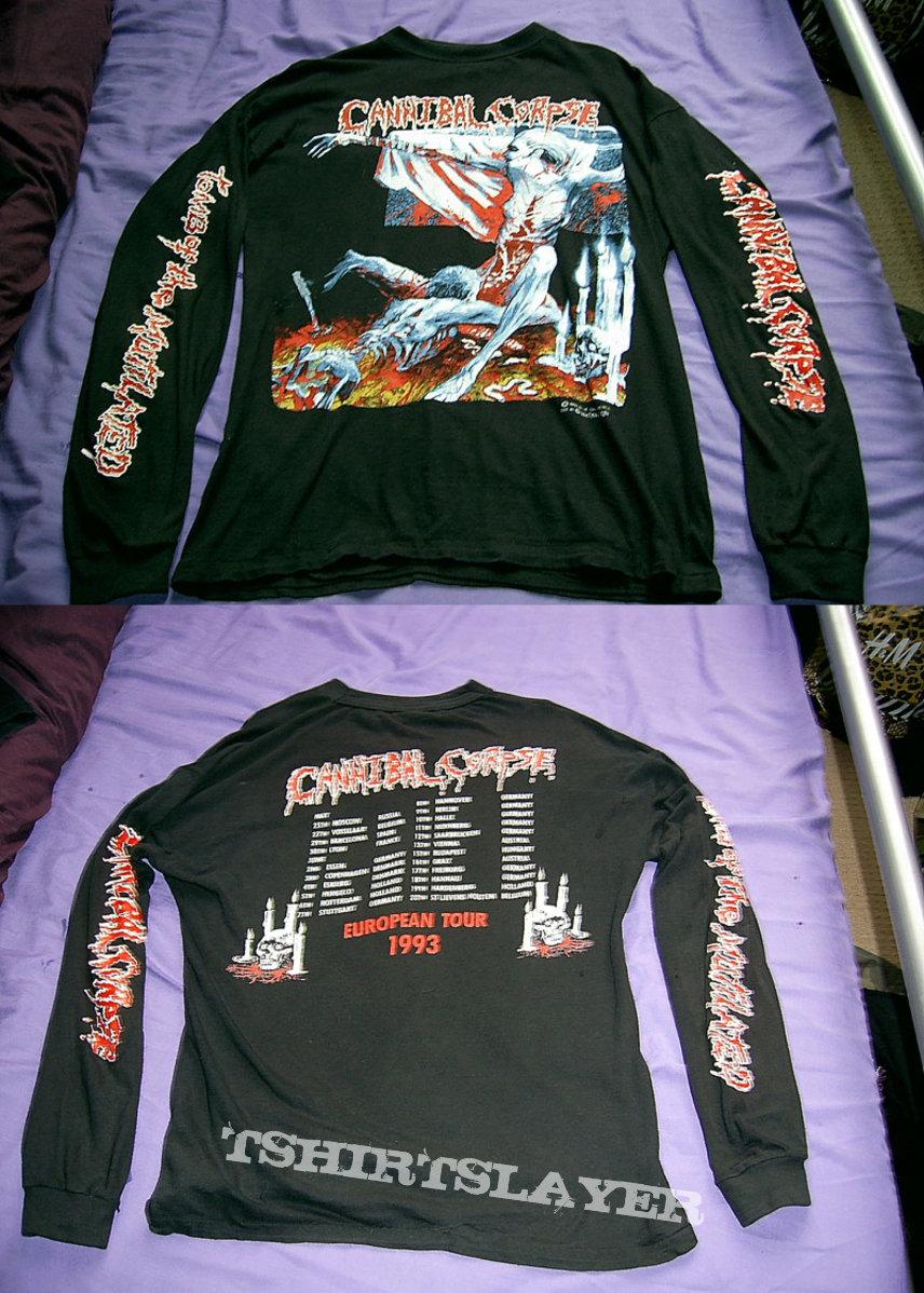 Cannibal Corpse - European tour '93 longsleeve shirt