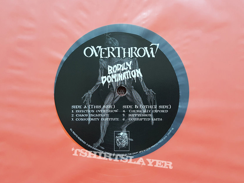 Overthrow - Within Suffering / Bodily Domination Vinyl