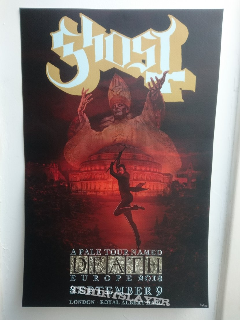 Ghost Pale Tour Named Death Poster