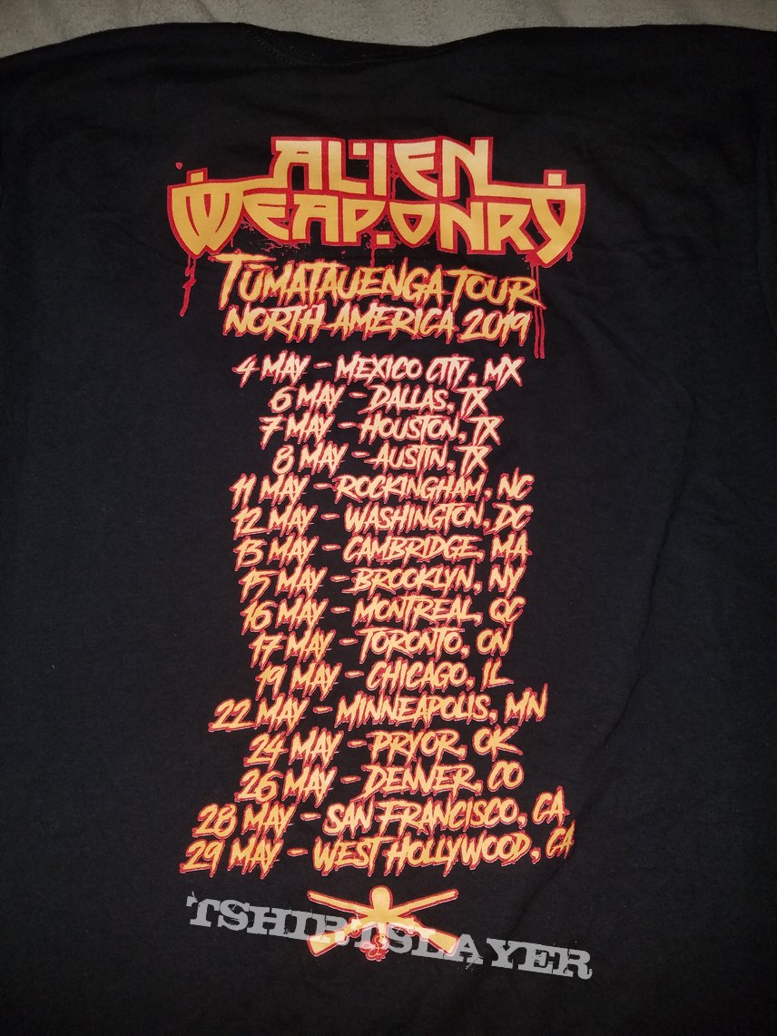 Alien Weaponry 2019 North American tour shirt