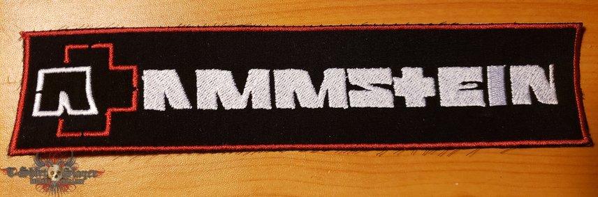 Rammstein embroidered strip patch