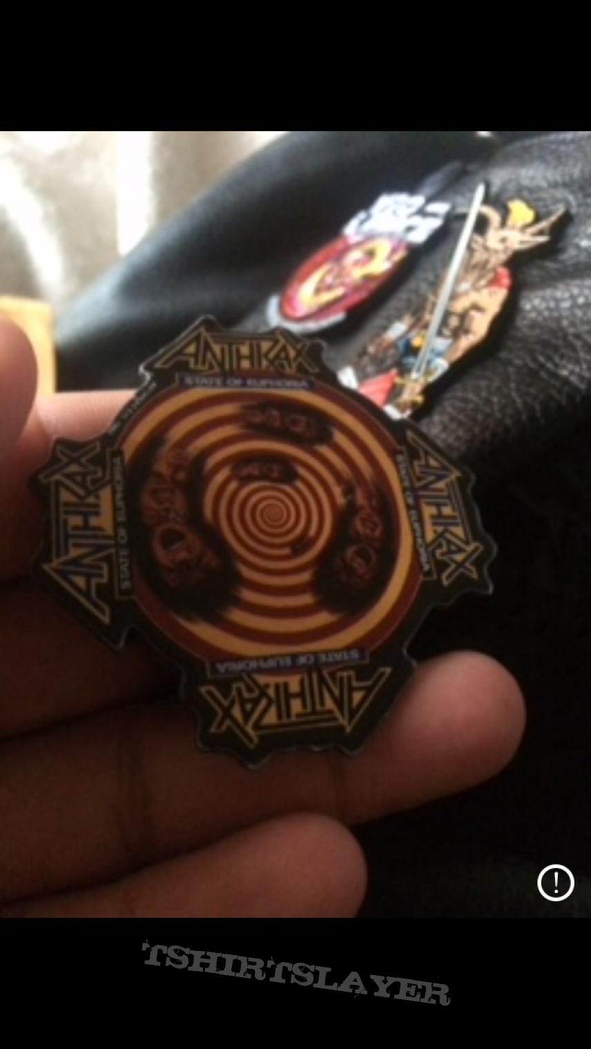 Vintage Anthrax Pin