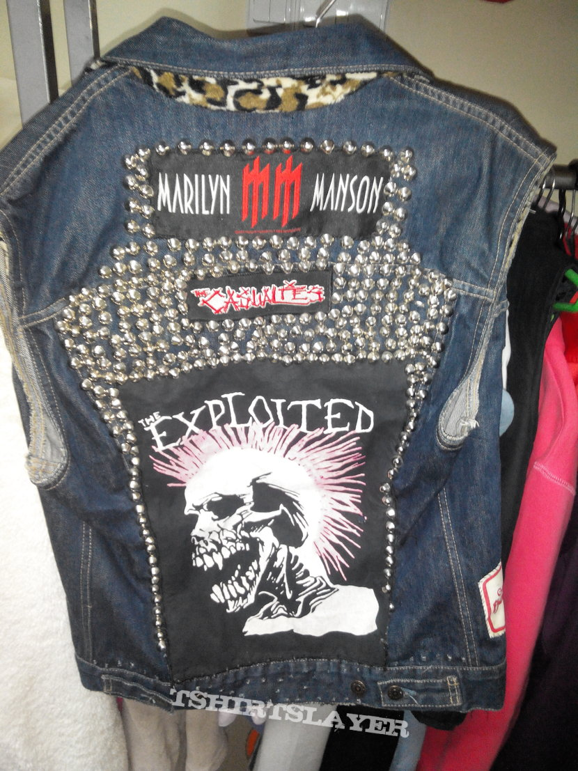 PUNK VEST The Exploited ,  Casualties , Mad Sin , Marilyn Manson