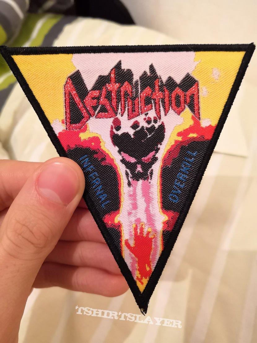 Destruction - Infernal Overkill triangular patch