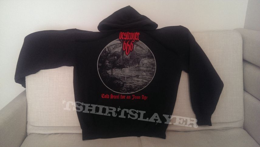 Destroyer 666 - Cold Steel... for an Iron Age hoodie