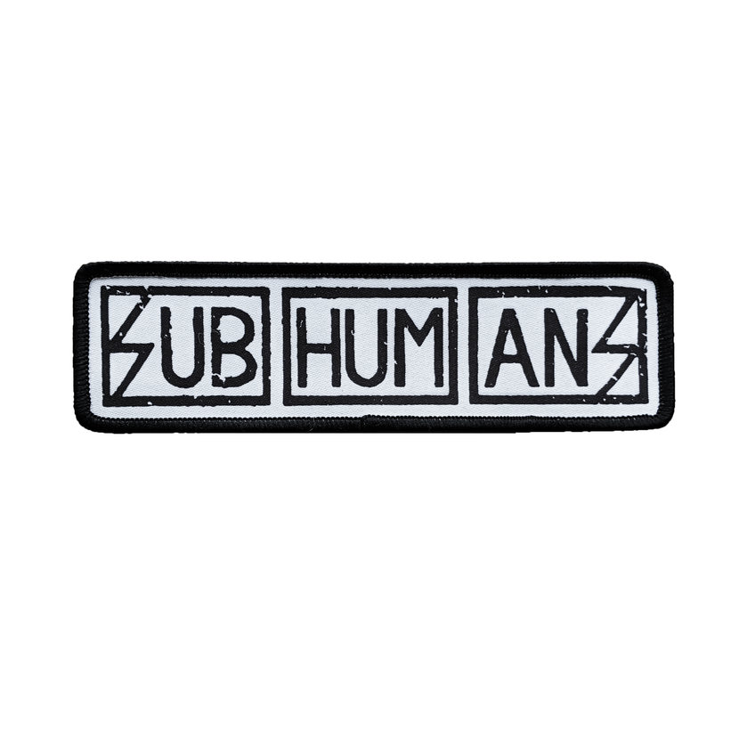 Subhumans woven patch