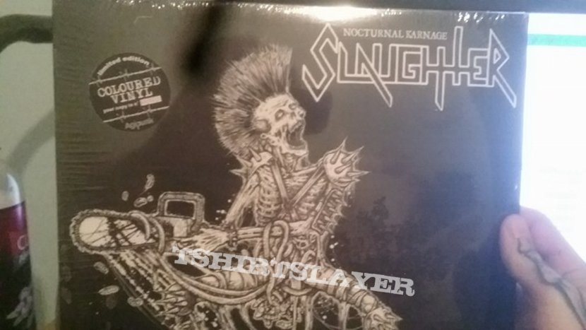 """Slaughter """"Nocturnal Karnage"""" Copy 40/150 extremely limited colored vinyl MINT"""