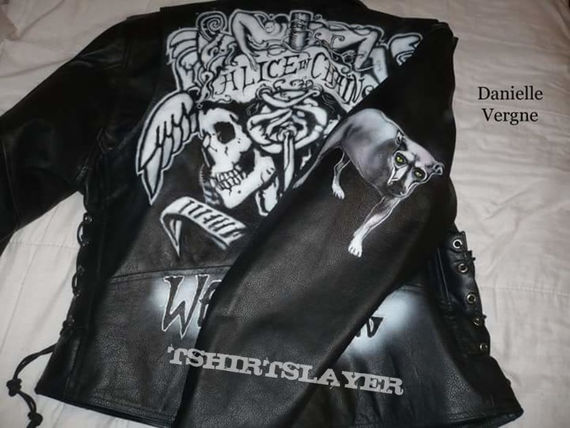 Alice in Chains hand painted leather jacket