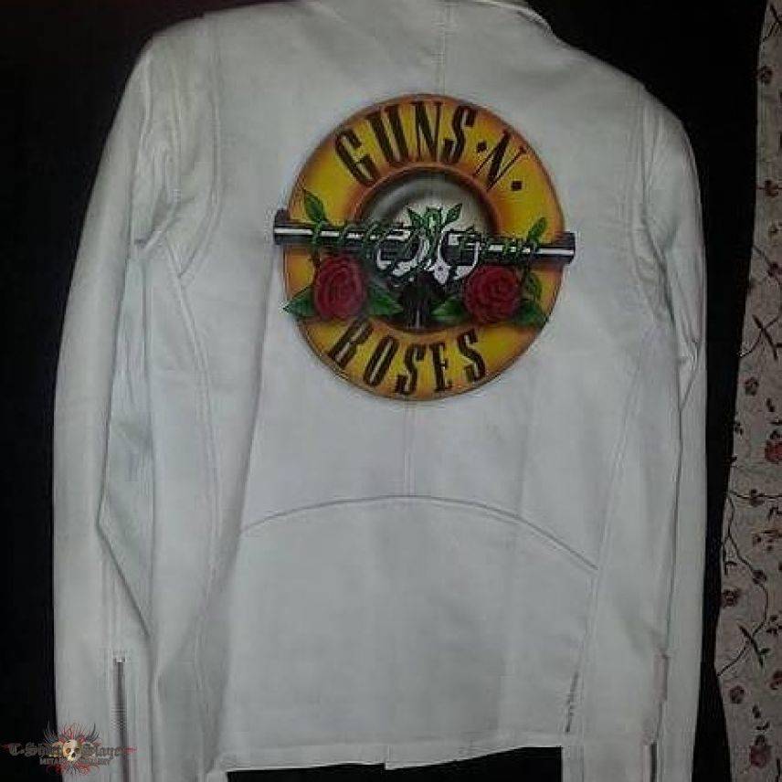 Guns and Roses hand painted leather jacket