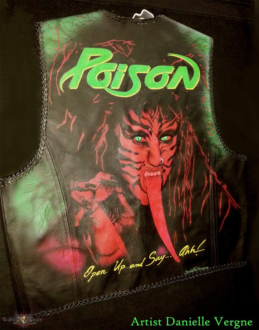 Poison painted leather vest