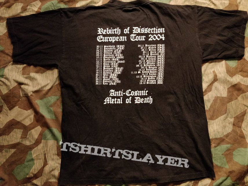 Rebirth of Dissection tour tshirt