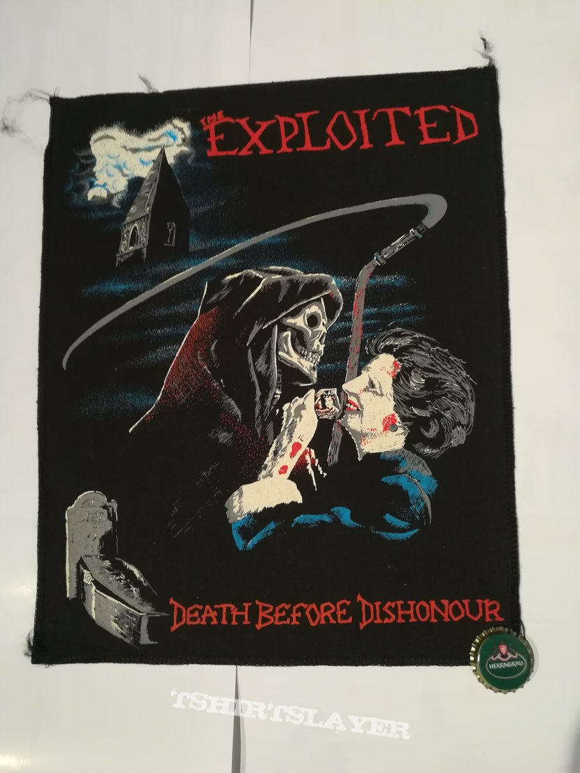 "The Exploited ""Death Before Dishonour"" Backpatch"