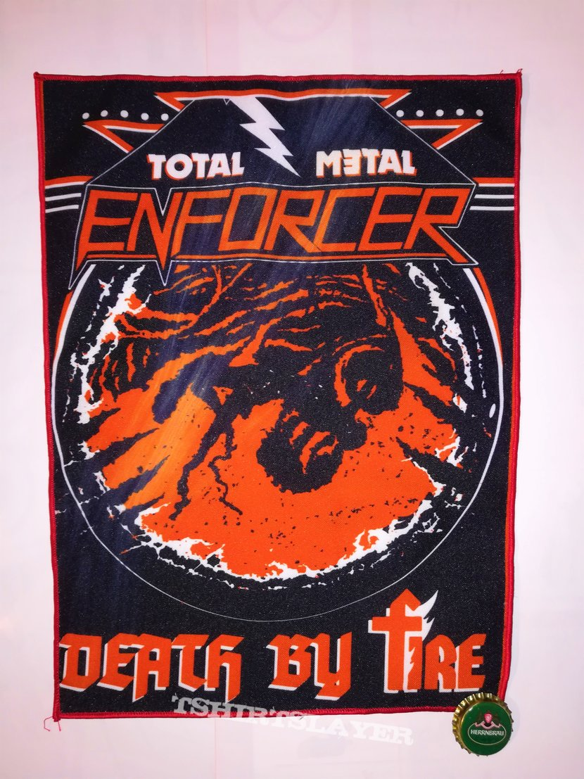 """Enforcer """"Death By Fire"""" Backpatch"""
