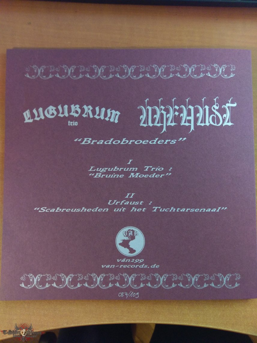 "Lugubrum Trio* / Urfaust ‎– Bradobroeders 12"" EP red version"