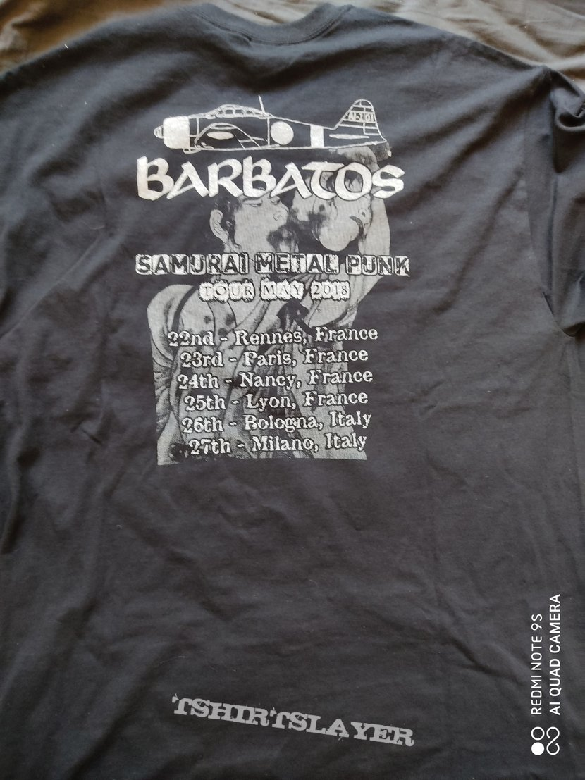 Barbatos - 2018 European tour shirt