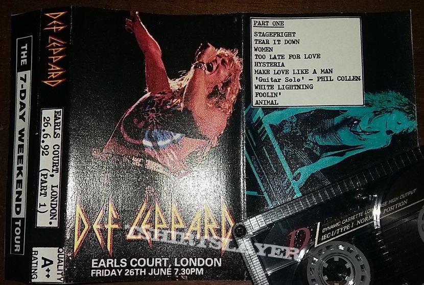 Def Leppard - Live At Earls Court London 26/6/1992 - Part 1 - Bootleg