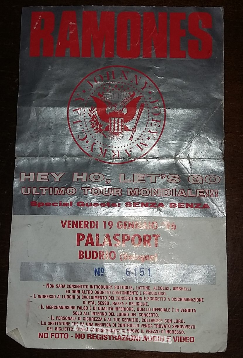 Ramones - Last Tour/Adios Amigos Tour 1996 - Budrio/Bologna/Italy