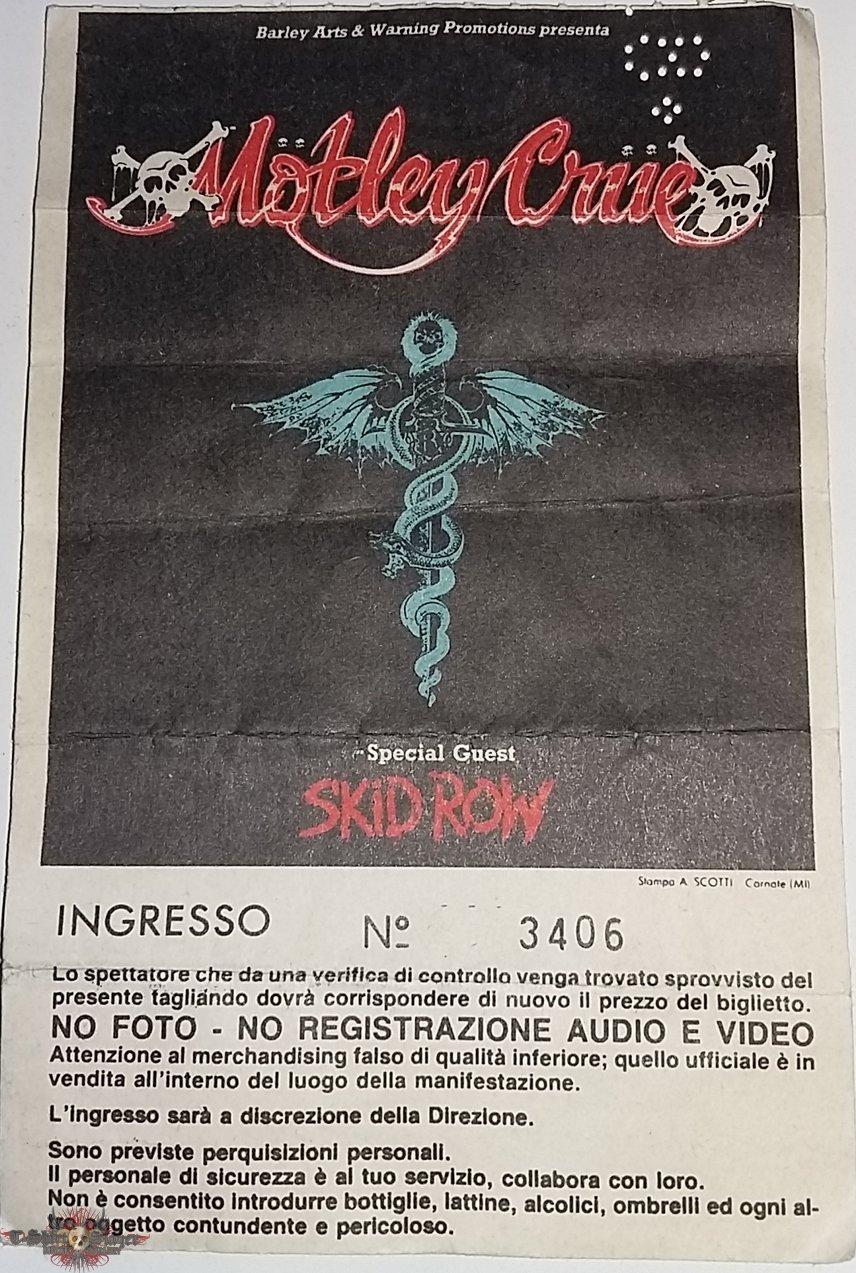 Motley Crue - Dr Feelgood Tour 1989 - Milan/Italy