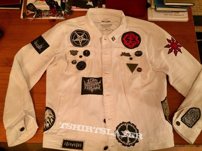 White Black, Stoner, Sludge, Psych battle jacket.