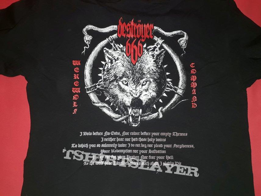 Rare Destroyer 666 official shirt