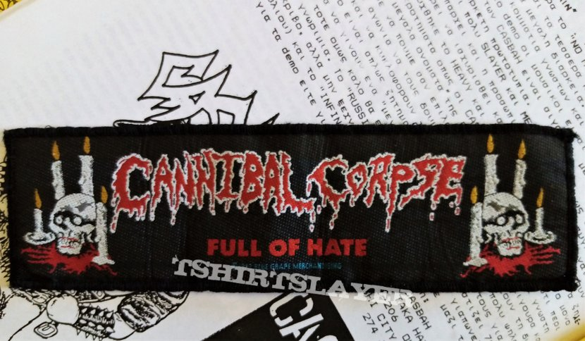 Cannibal Corpse original 1993 woven patch