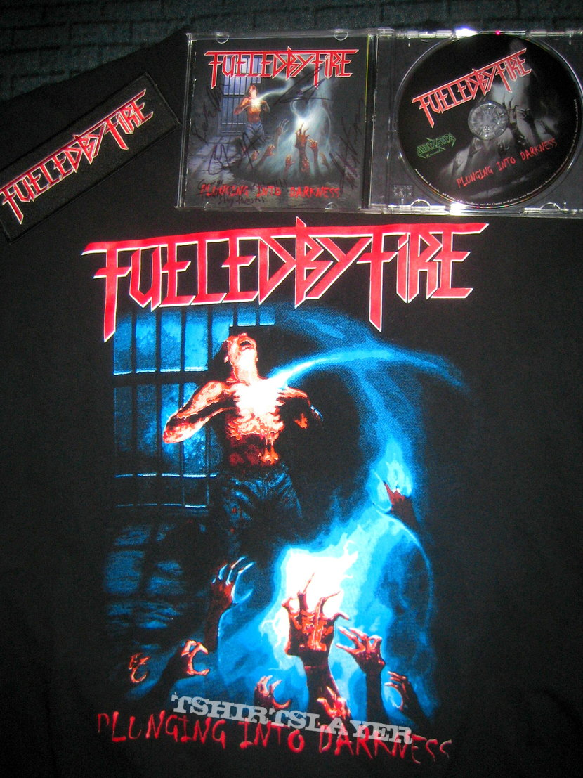 Fueled By Fire - Plunging into Darkness (Signed CD, Shirt, Patch)