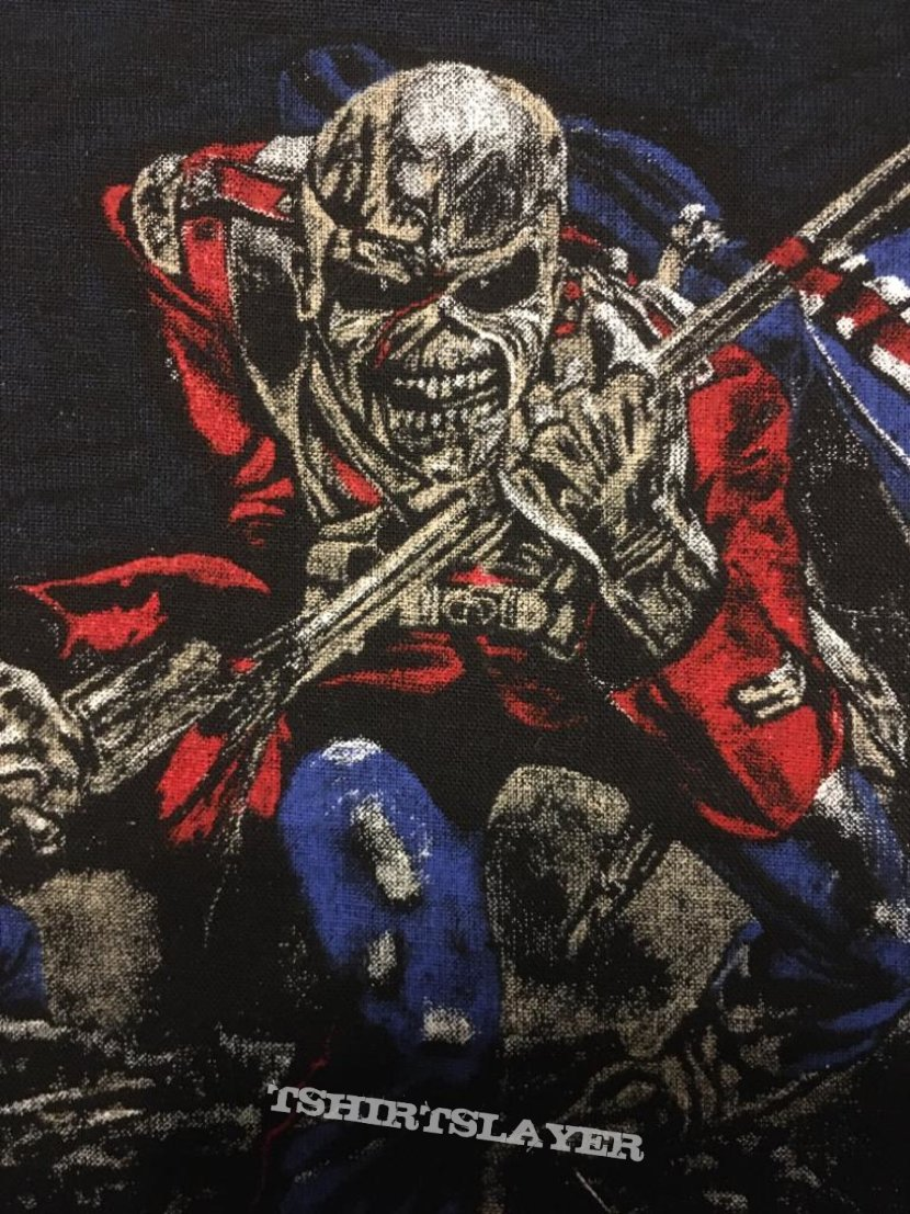 Iron Maiden - The Trooper - Vintage Back Patch 1983 (2nd version, nr. 2)