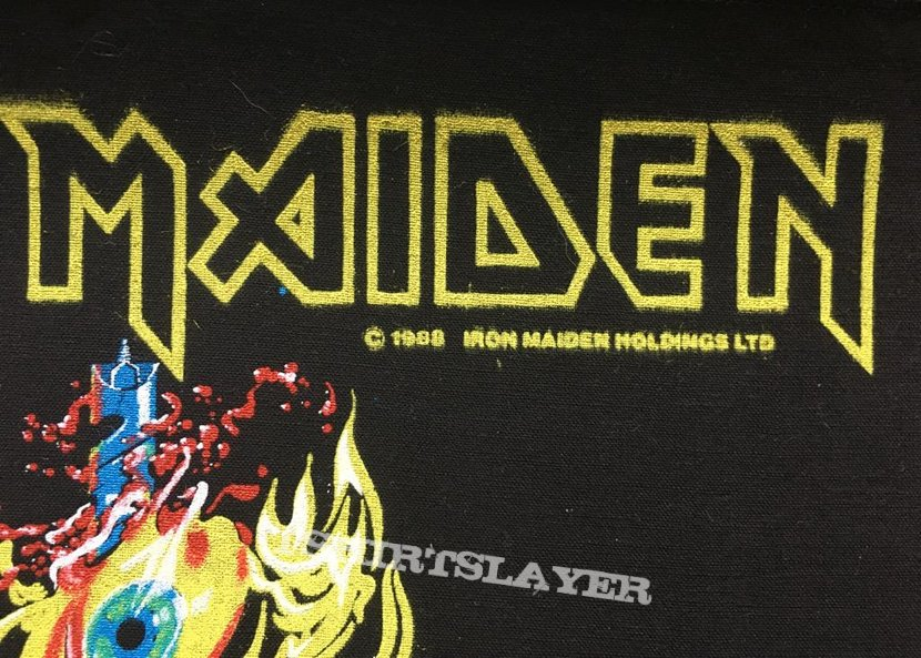 Iron Maiden - The Clairvoyant - Back Patch 1988 (Yellow Version)