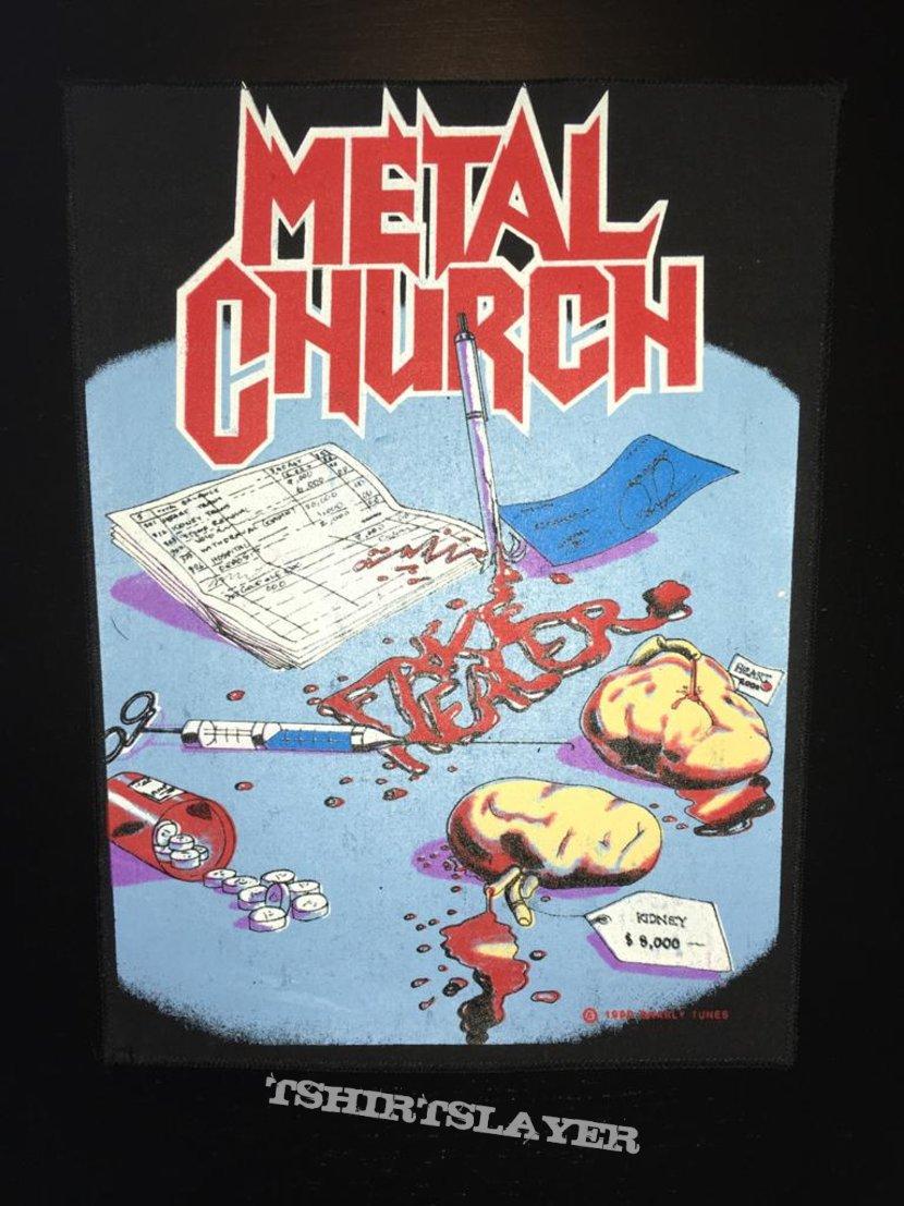 Metal Church - Fake Healer (Organs version) -  Back Patch 1990