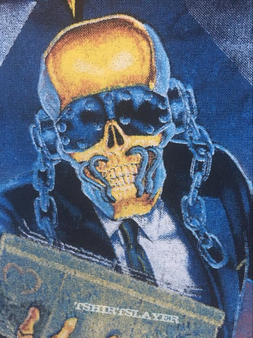 Megadeth - Berlin Wall - Back Patch 1990