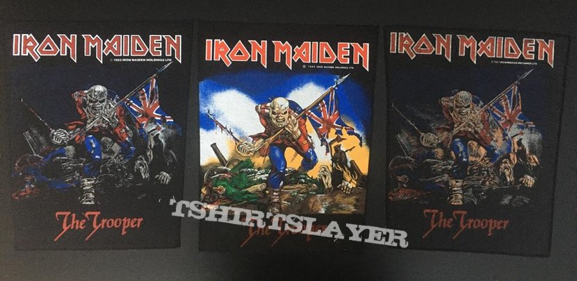 Iron Maiden - The Trooper - Back Patch 1983 (colored version - nr. 2)
