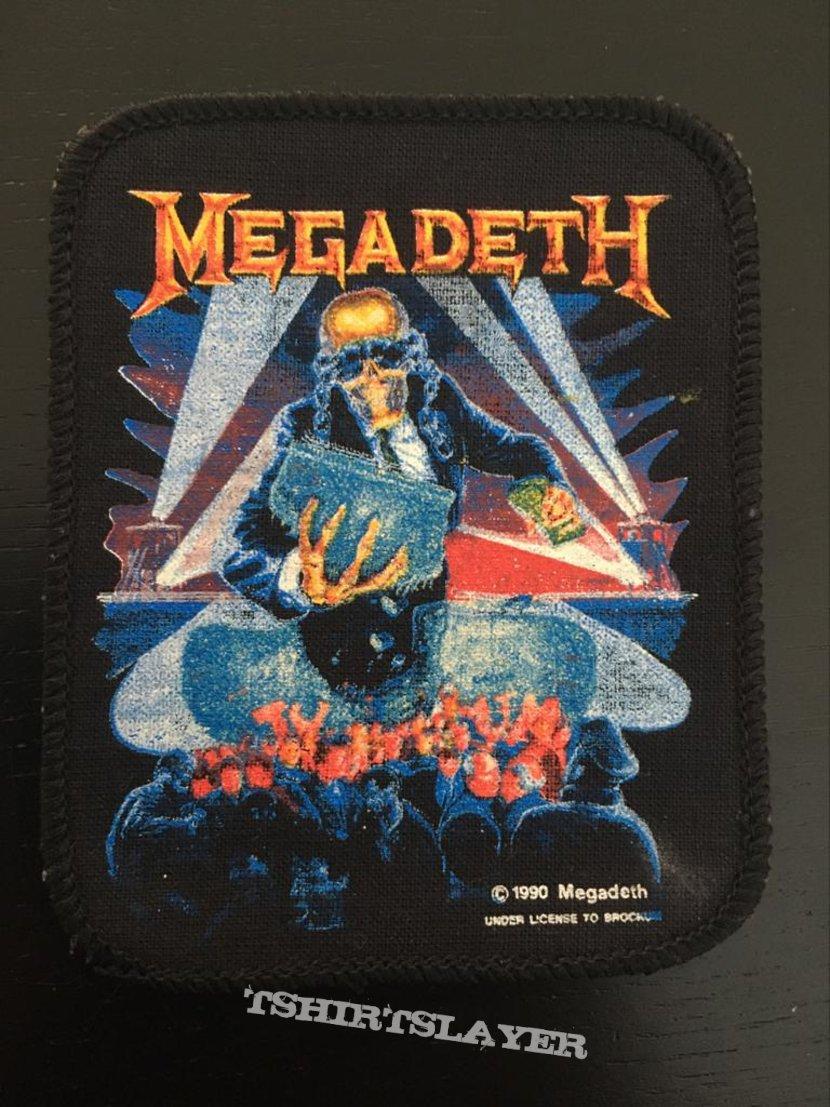 Megadeth - Berlin Wall - Printed vintage patch 1990