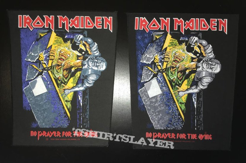 Iron Maiden - No Prayer for the Dying - Back Patch 1990 (Purple version)