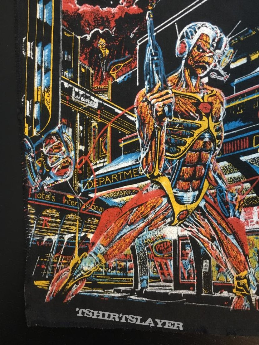 Iron Maiden - Somewhere in Time - Vintage Back Patch 1986 (nr. 3)