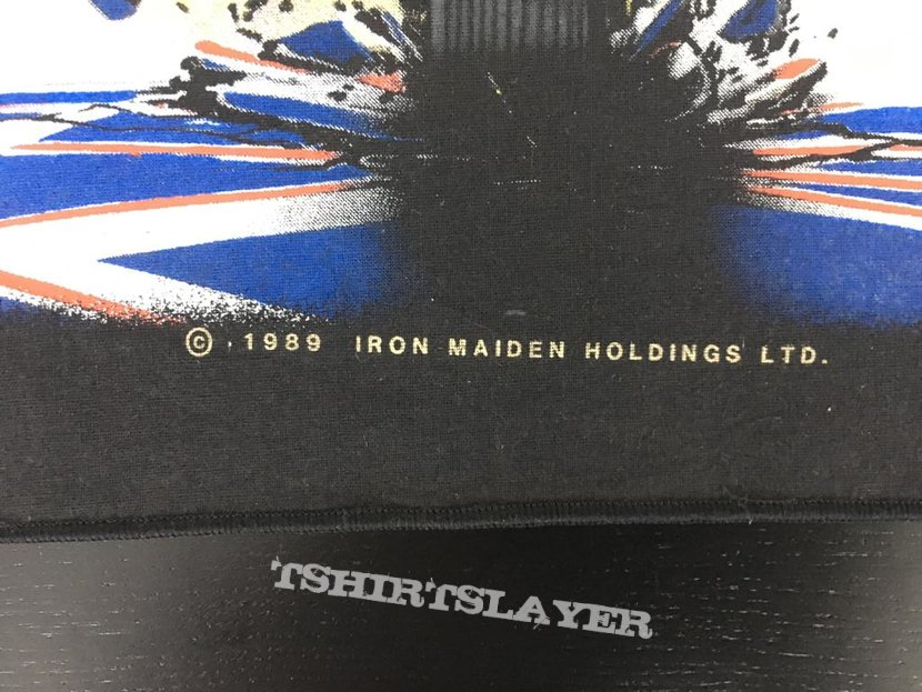 Iron Maiden - Don't Walk - Vintage Back Patch 1989