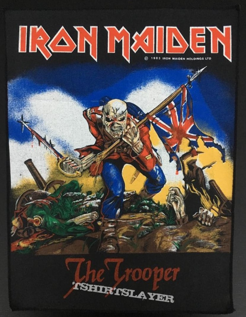 Iron Maiden - The Trooper - Vintage Back Patch 1983