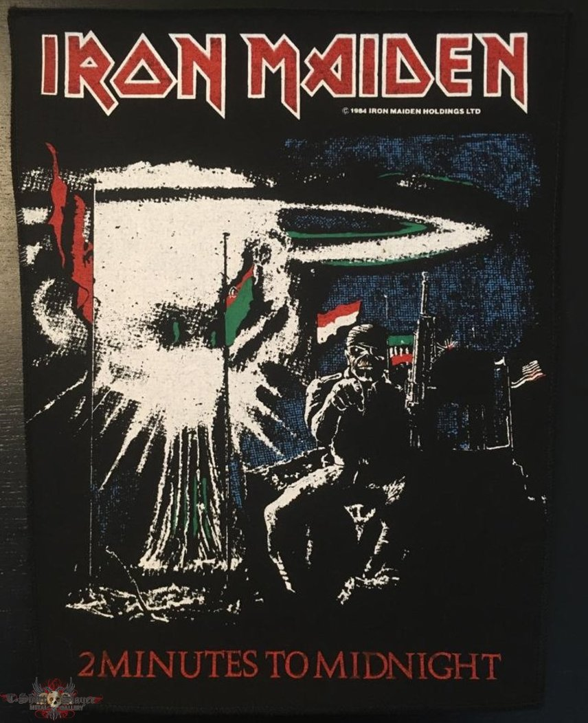 Iron Maiden - 2 Minutes to Midnight - Vintage Back Patch 1984 (version 2)