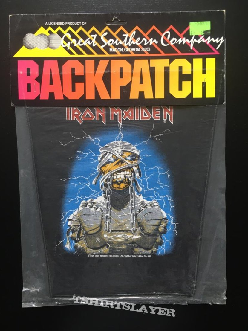 Iron Maiden - Powerslave - Back Patch 1984 (Version 3)