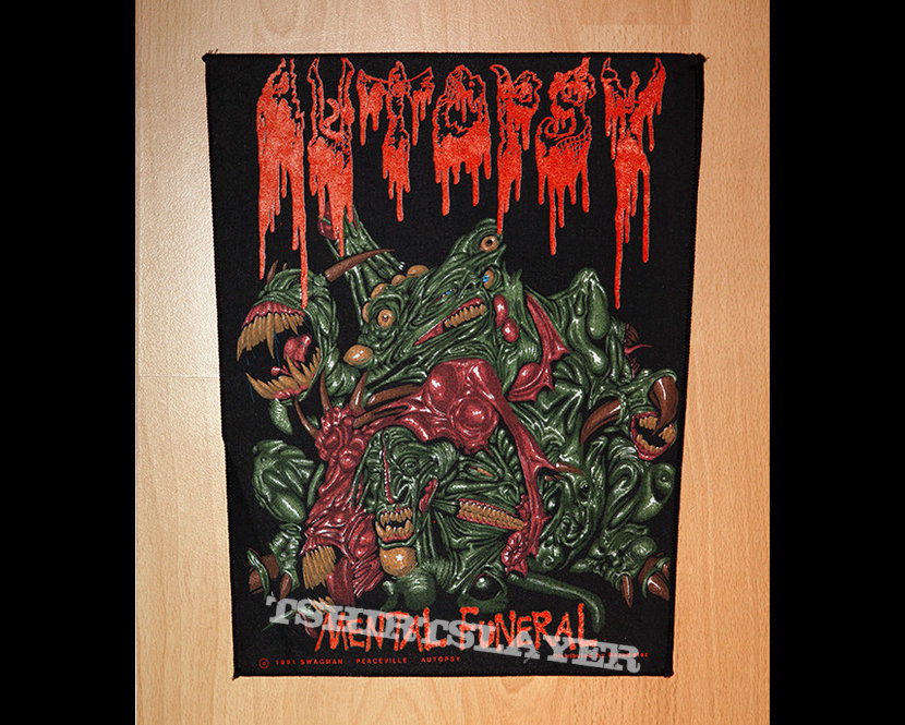 Autopsy - Mental Funeral / official backpatch