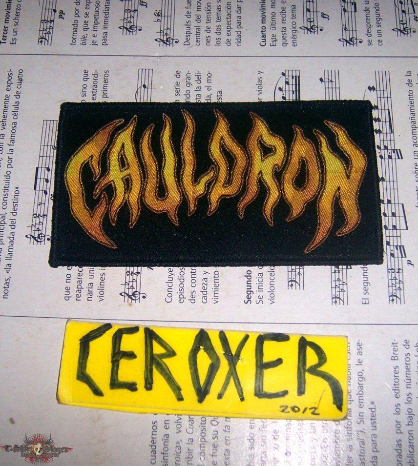 cauldron woven patch