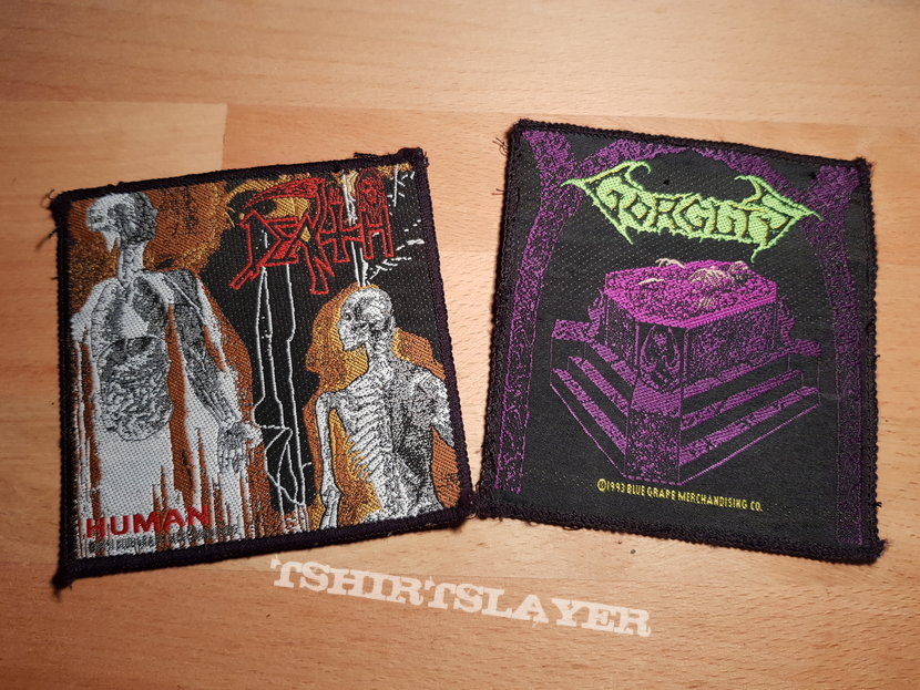 Death - Human & Gorguts - Considered Dead - vintage patches