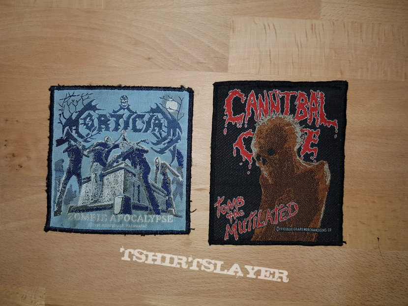 Cannibal Corpse & Mortician - patches