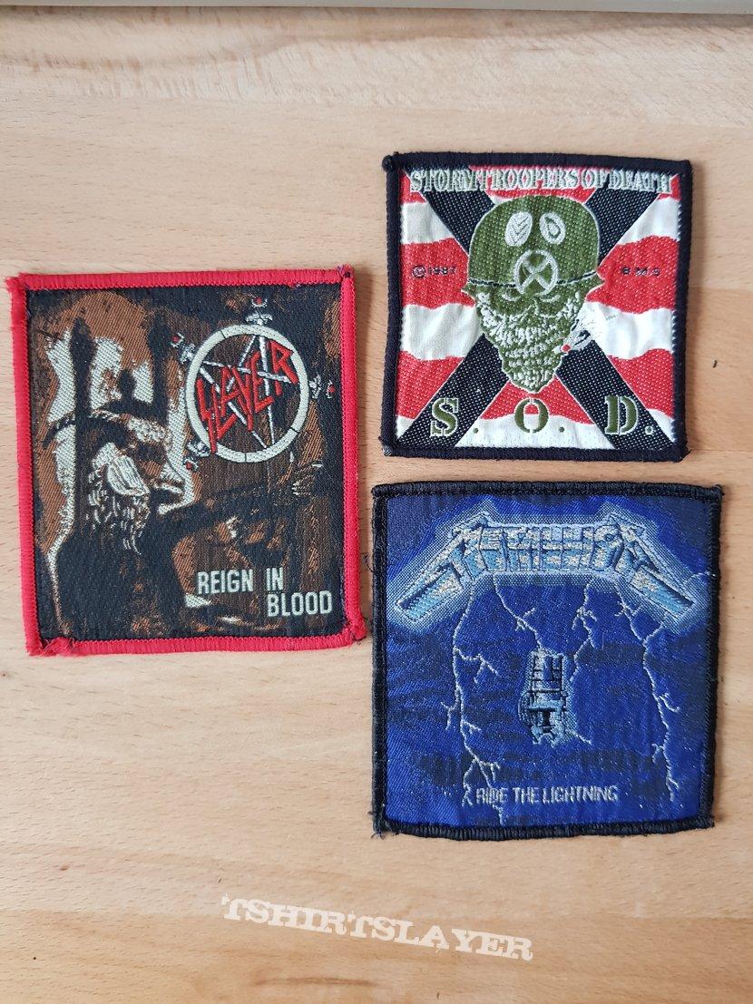 Slayer + Metallica + S.O.D. - Patches
