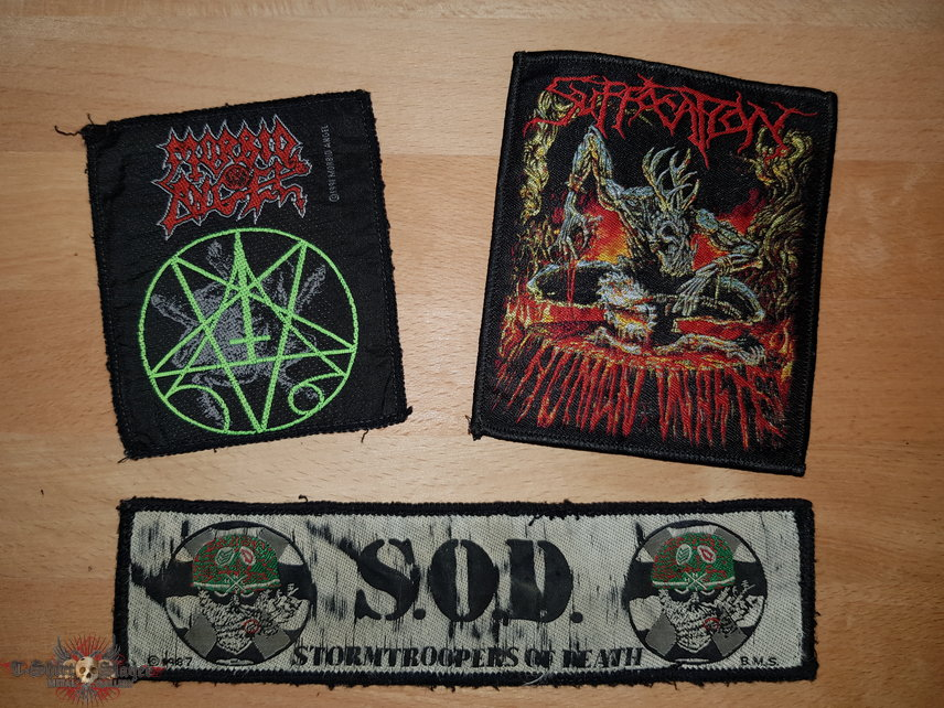S.O.D. + Morbid Angel + Suffocation - Patches