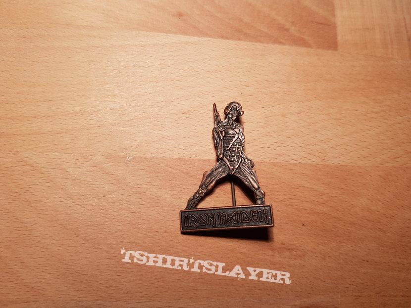 Iron Maiden - Somewhere In Time - vintage promo pin