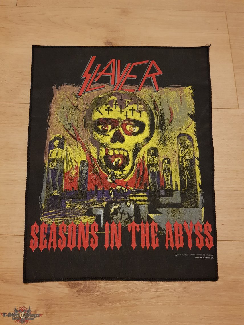 Slayer - Seasons In The Abyss - backpatch